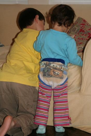 caroline in alex's underwear