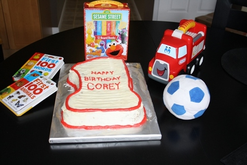 cake and surrounding objects