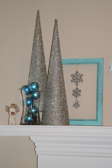 left side of the mantle