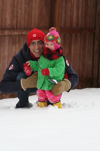 Derek and Caroline in the snow
