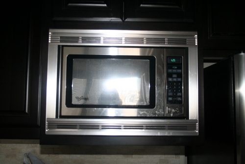 front of microwave