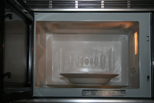 inside a clean microwave