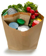 picture of bag of healthy food