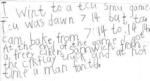Andrew's Write Up from the TCU Game.