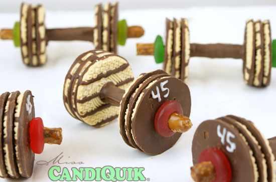 Barbell Birthday Cake