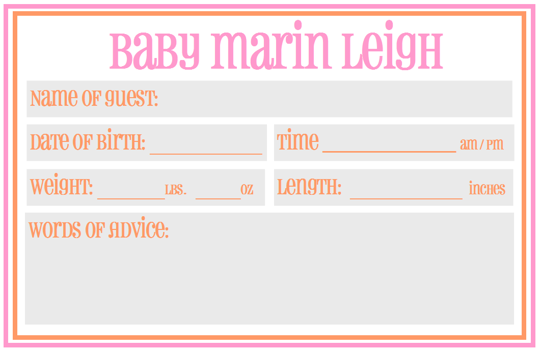 Baby Shower Guess Due Date Template | New Calendar Template Site