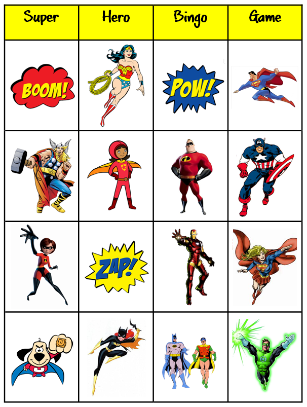 Super_Hero_Bingo