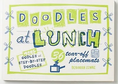 doodles at lunch placemat