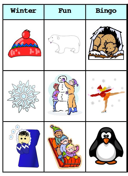 Winter Bingo Paint Picture